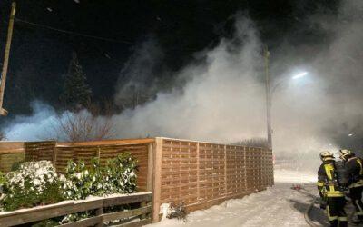 Einsatz: Laubenbrand in Sölderholz